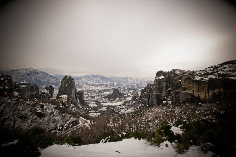 Meteora Griekenland stock foto