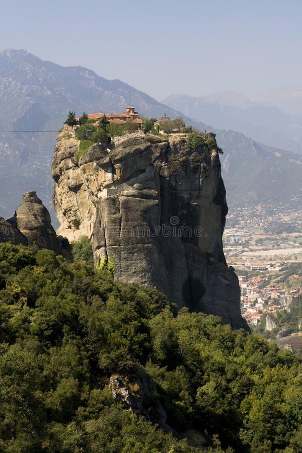 Meteora Hanging Monastery royalty free stock photos
