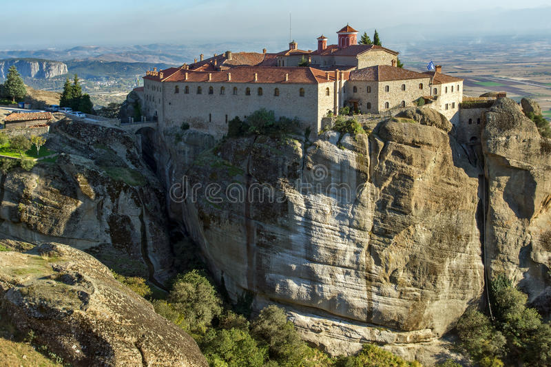 Meteora, Holy Monastery of St. Stephen royalty free stock photos