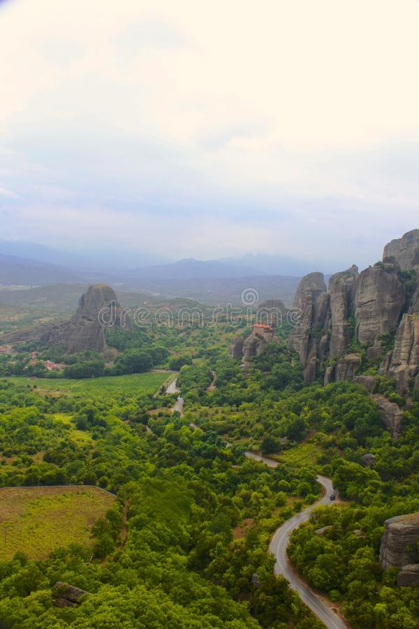 Meteora, Kalambaka, Grecia fotografia stock