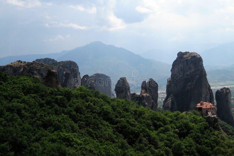 Meteora, Klöster auf Felsen in Griechenland stockfoto