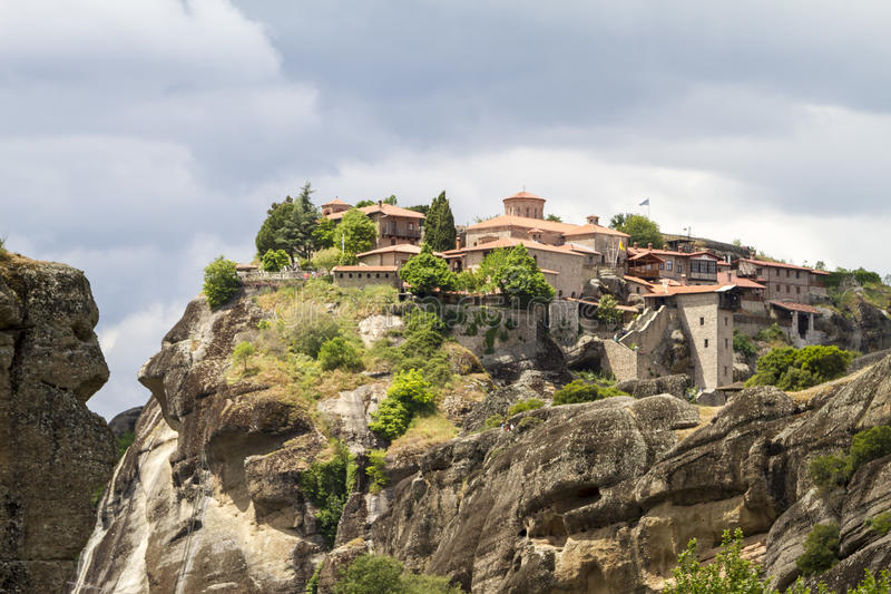 Meteora monasteries, incredible sandstone rock formations. royalty free stock photos
