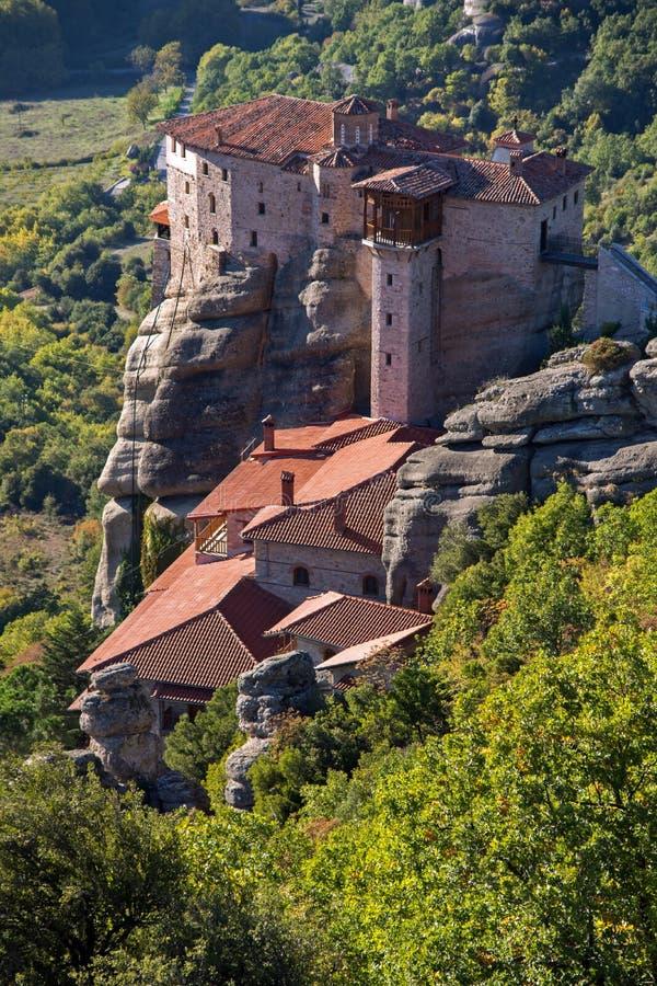 Meteora, monastero santo della st Barbara, Grecia di Rousanou fotografia stock libera da diritti