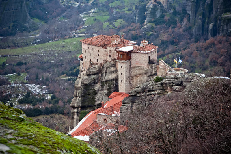 Download The Meteora monastery stock image. Image of traditional - 18178337