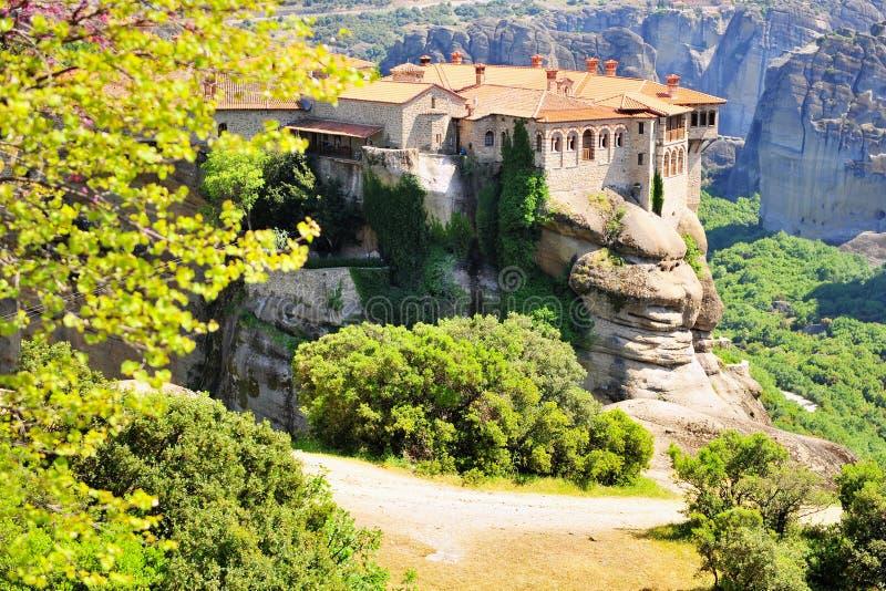Meteora monastery and mountains, Greece stock photos