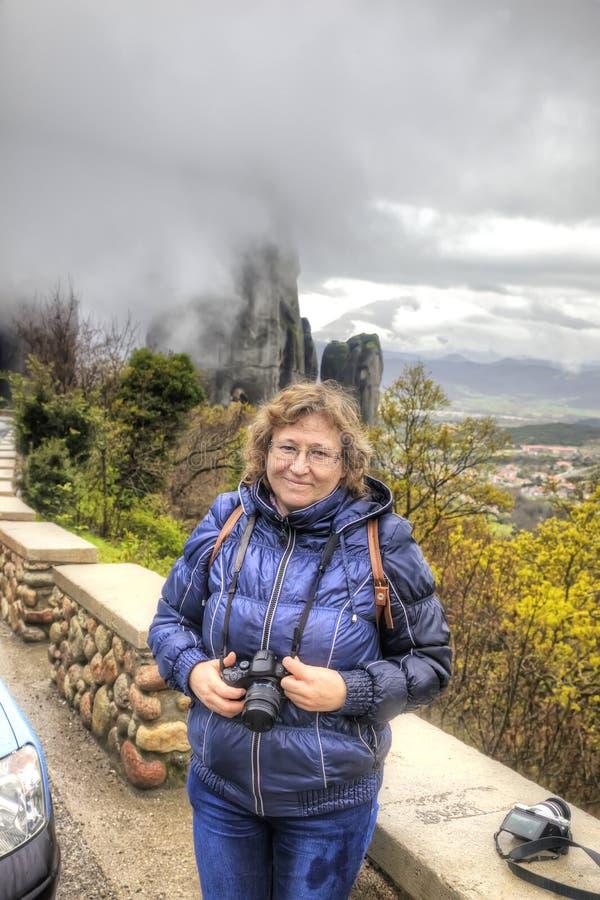 Meteora Rocas Fotógrafo imagen de archivo libre de regalías