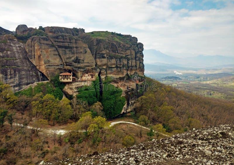 Monasteries of Meteora in Kalambaka, Greece stock image