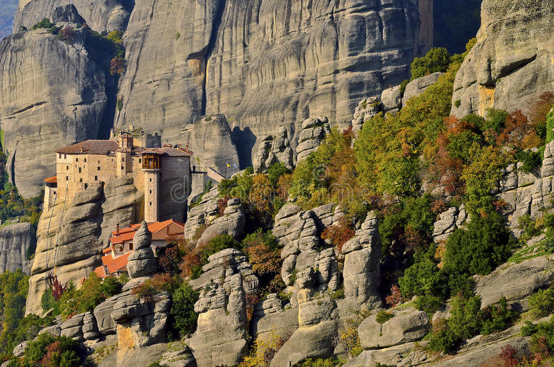 Download Meteora view stock image. Image of greece, monastery - 33419031