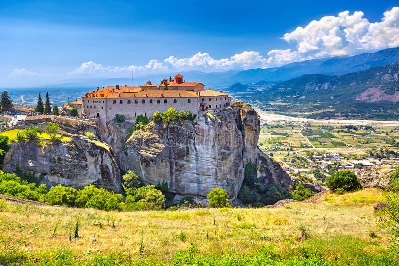 Meteorakloosters, Griekenland Kalambaka Unesco-de Werelderfenis zit stock foto