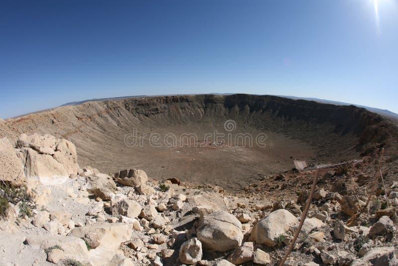 Meteorauswirkungskrater Winslow Arizona USA stockbild