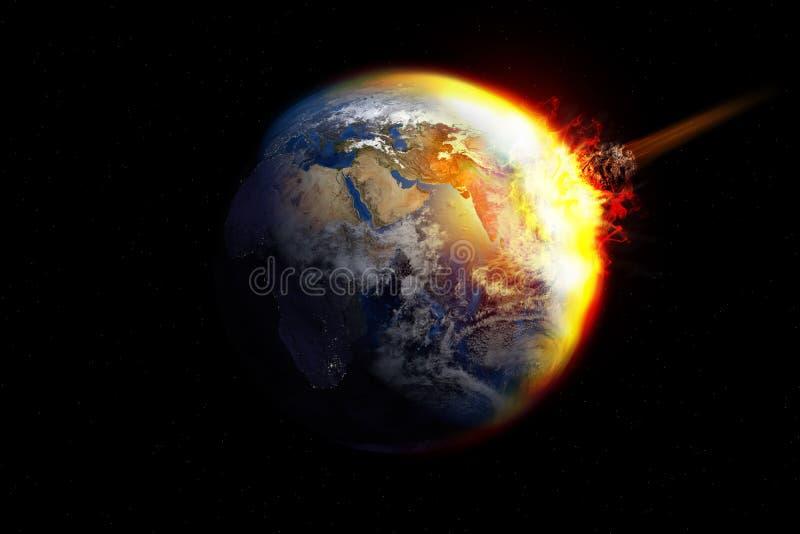 Meteorinverkan stock illustrationer