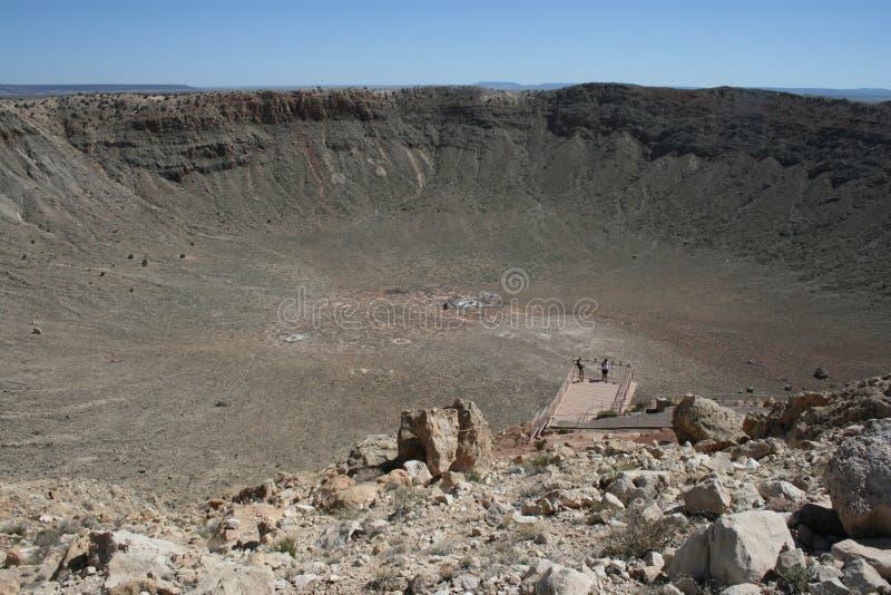 Meteorit-Krater in Arizona lizenzfreie stockbilder