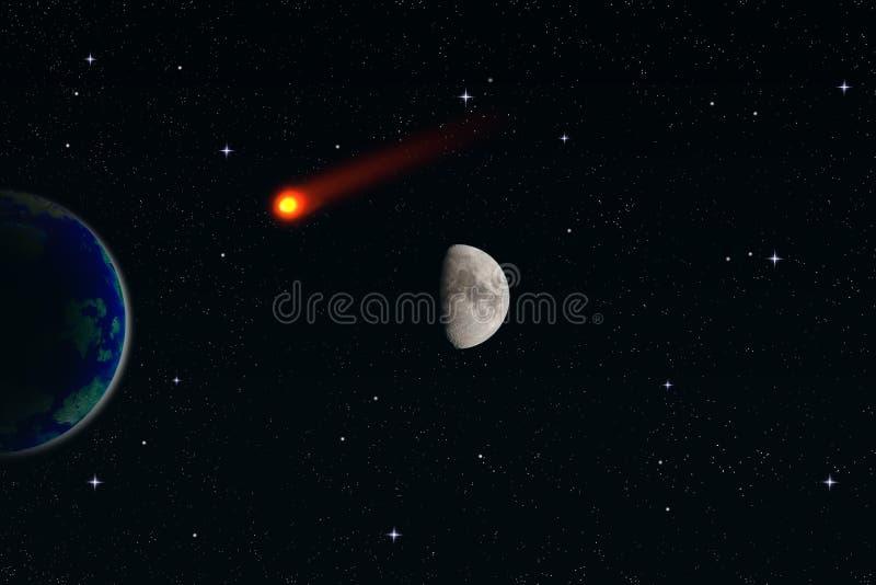 meteorite stock illustrationer