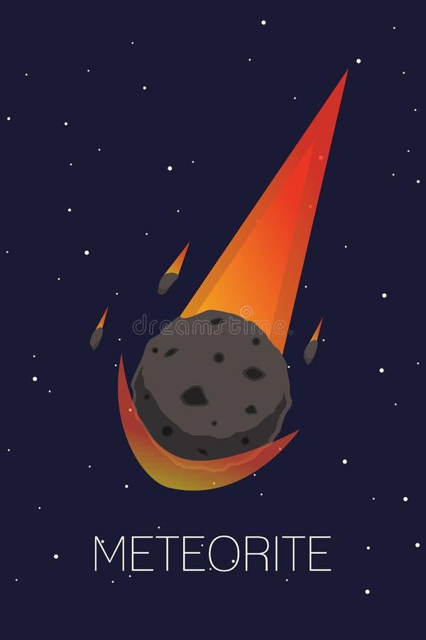meteorite royaltyfri illustrationer
