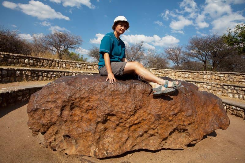 Meteorite stock image