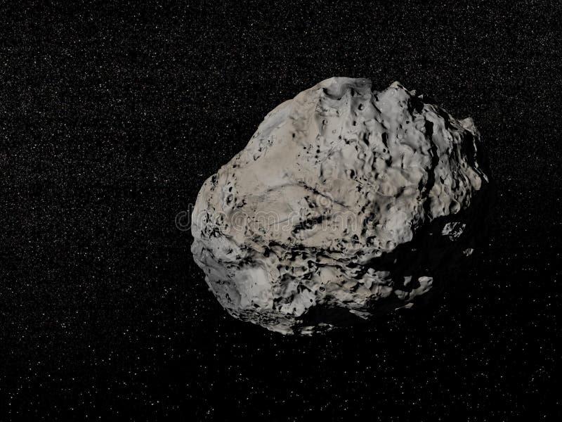 Meteorite i universum stock illustrationer