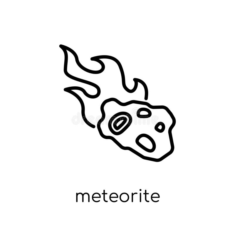 Meteorite icon from Astronomy collection. stock illustration