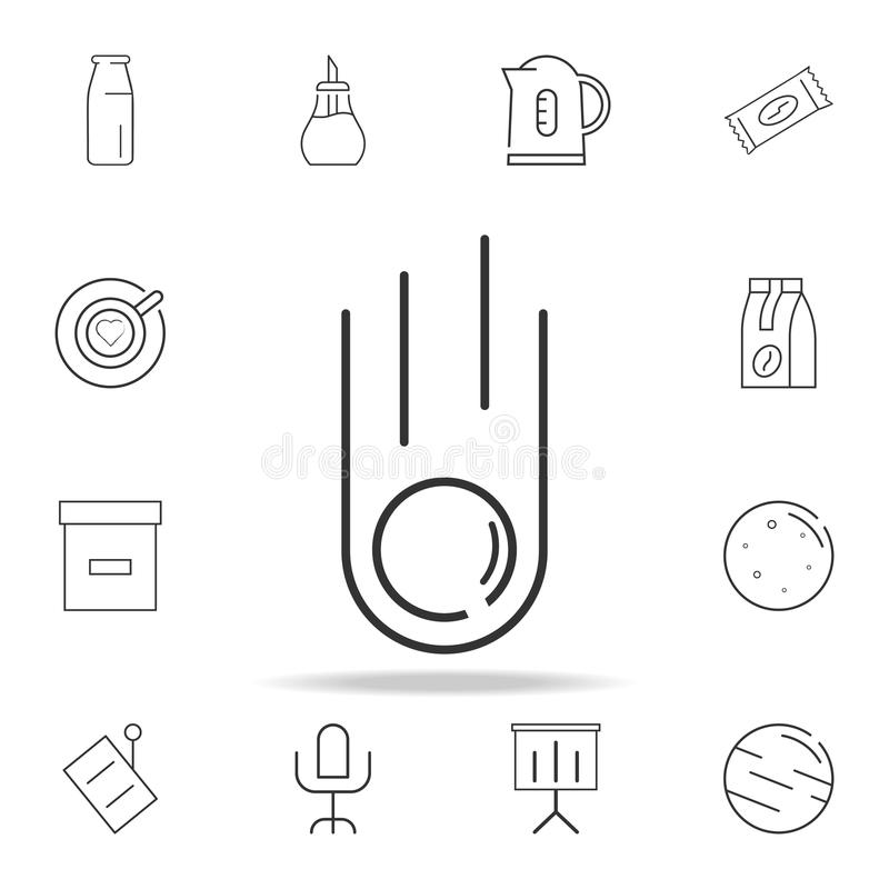 Meteorite line icon. Detailed set of web icons and signs. Premium graphic design. One of the collection icons for websites, web de. Sign, mobile app on white royalty free illustration