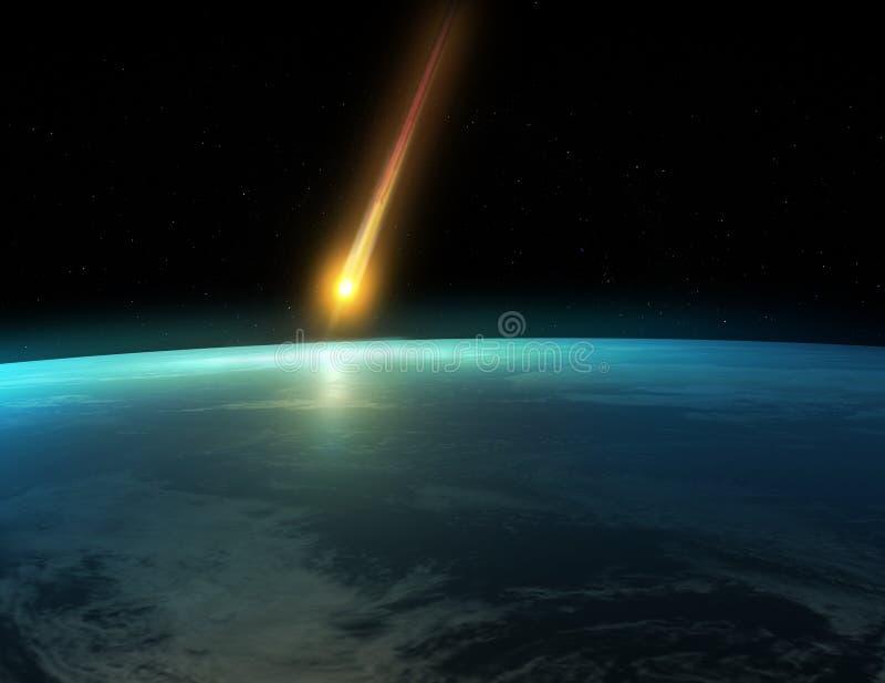 Meteorito fotografía de archivo libre de regalías