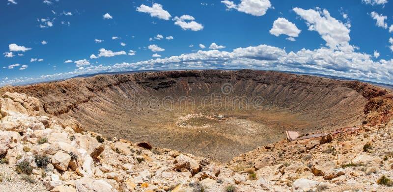 Meteorkraterpanoramautsikt, i Winslow, Arizona, USA royaltyfri foto