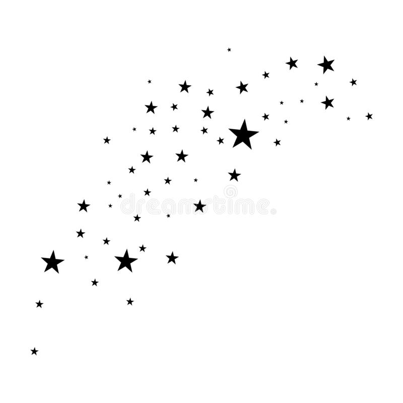 Αστέρια σε ένα άσπρο υπόβαθρο διανυσματική απεικόνιση