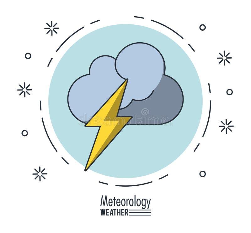 Meteorologia i pogoda royalty ilustracja