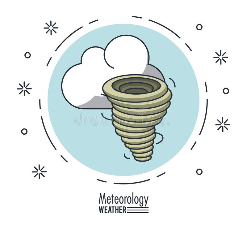 Meteorologia i pogoda ilustracji
