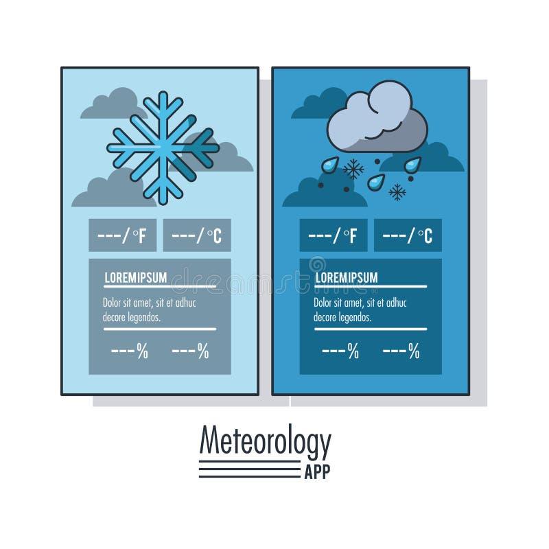 Meteorologia infographic raport ilustracja wektor
