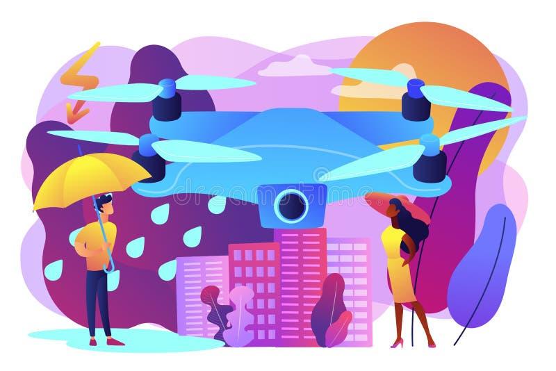 Meteorologia trutni pojęcia wektoru ilustracja ilustracji