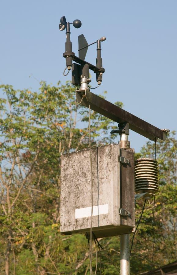 Meteorological avkännare för Anemometer och för apparat arkivfoton