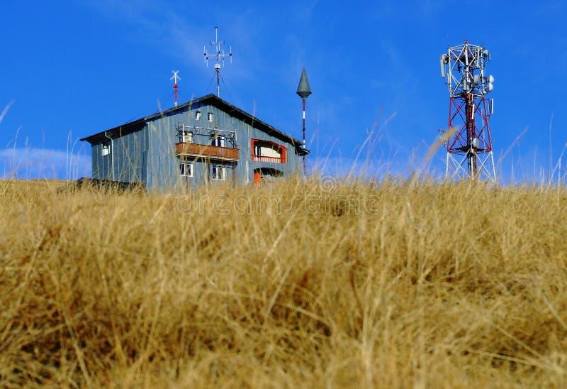 Meteorological data station stock images