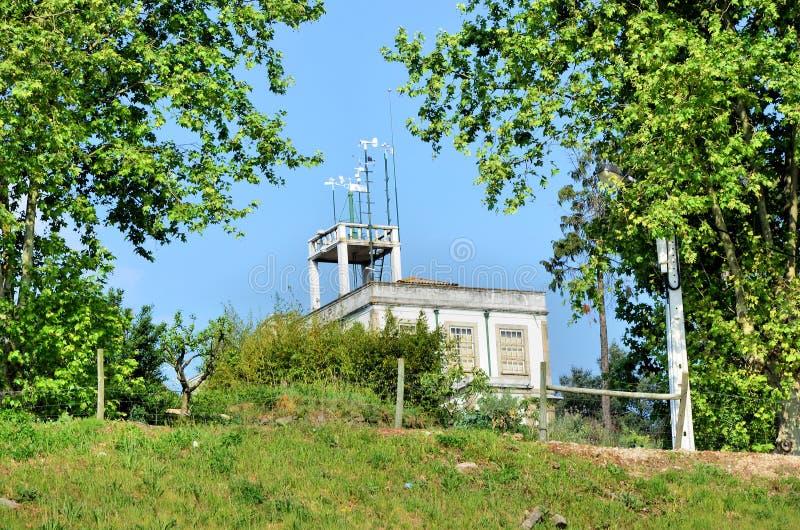 meteorological observatorium royaltyfri fotografi