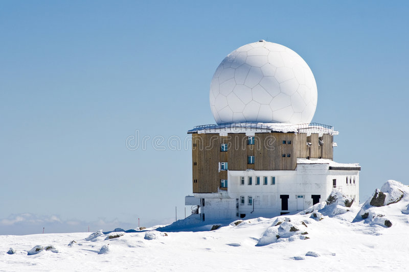 meteorological station royaltyfri fotografi