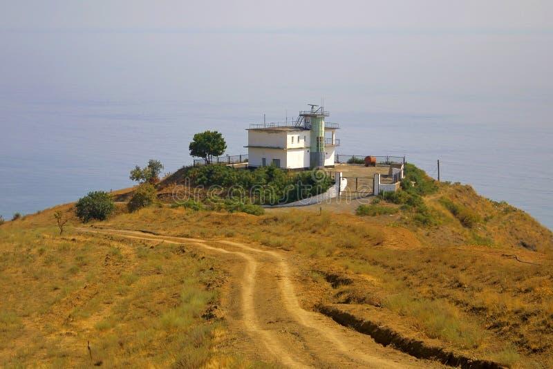 meteorological station för byggnadskull arkivfoto
