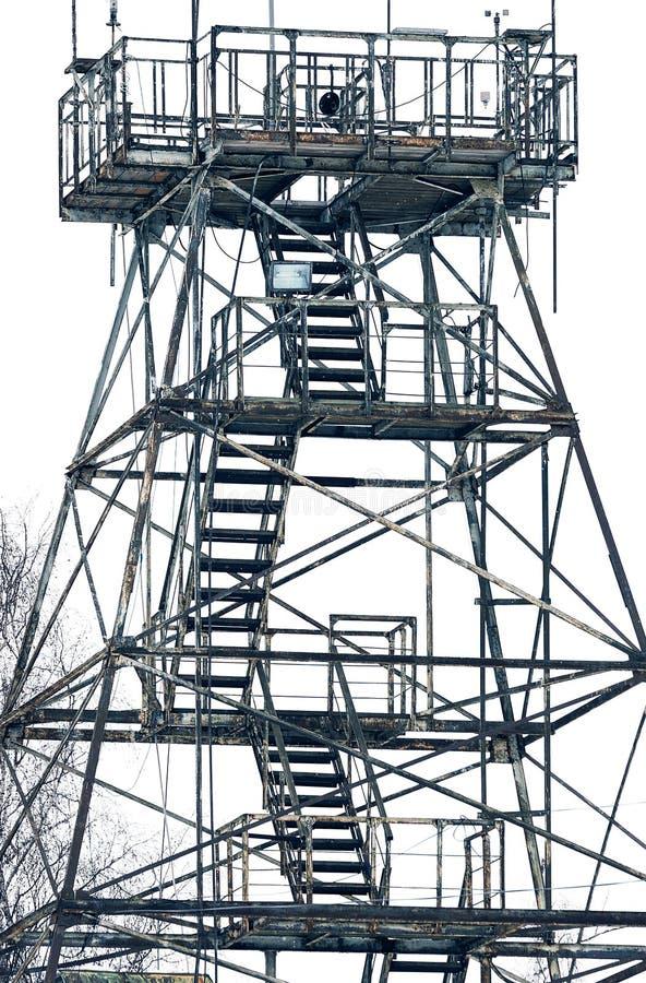 meteorological station Konstruktionen av den gamla tornclosen- royaltyfria foton