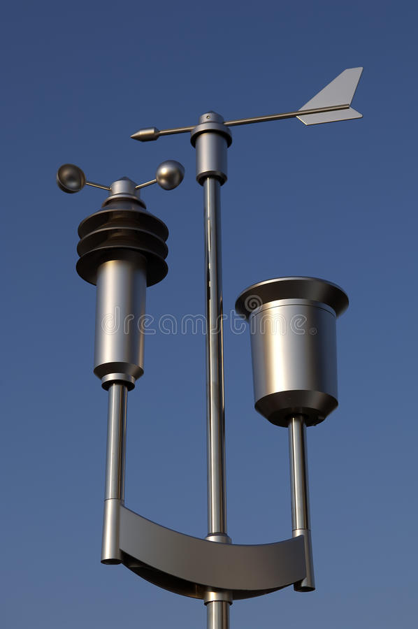 Meteorological weather station stock photos