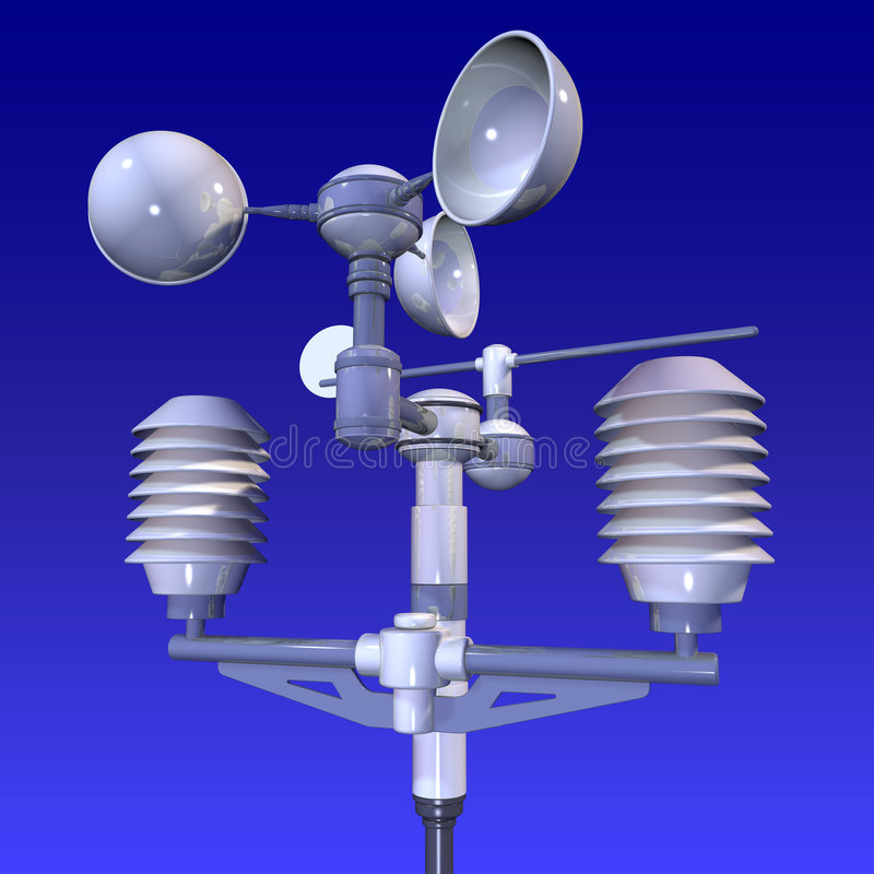 Free Meteorological Weatherstation Royalty Free Stock Photos - 2502408