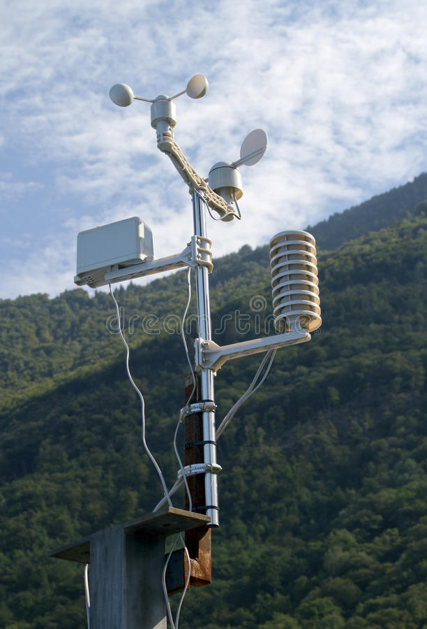 Meteorological weatherstation royaltyfri bild
