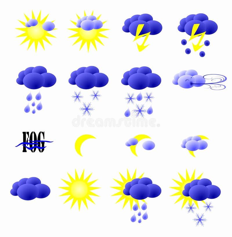 Meteorologiczne ikony ilustracja wektor