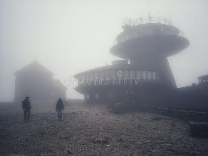 Meteorologiczny obserwatorium w Polska zdjęcie stock