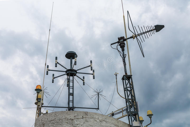 Meteorologiczny przyrząd pogodowa stacja Prosty telecommunicati obraz royalty free