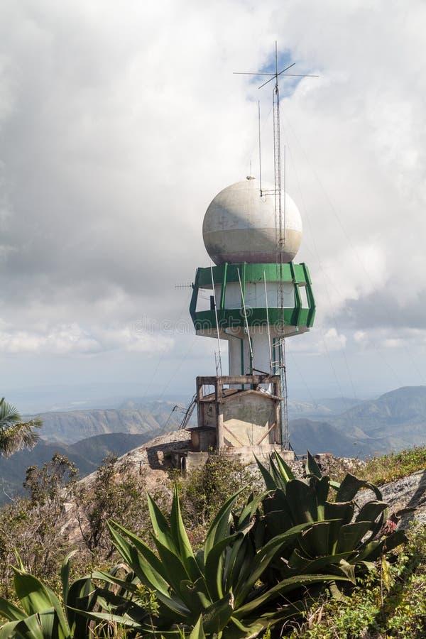 Meteorologiczny radar przy losu angeles Granu Piedra górą, Cu zdjęcie stock