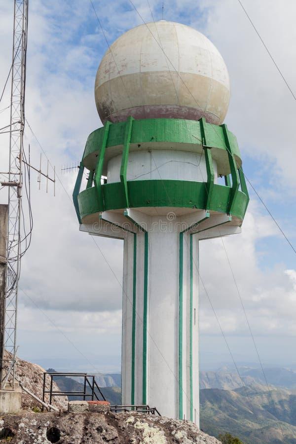 Meteorologiczny radar przy losu angeles Granu Piedra górą, Cu zdjęcia stock
