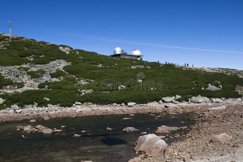 Meteorology. Station in High Tatra in the Slovakia stock photo