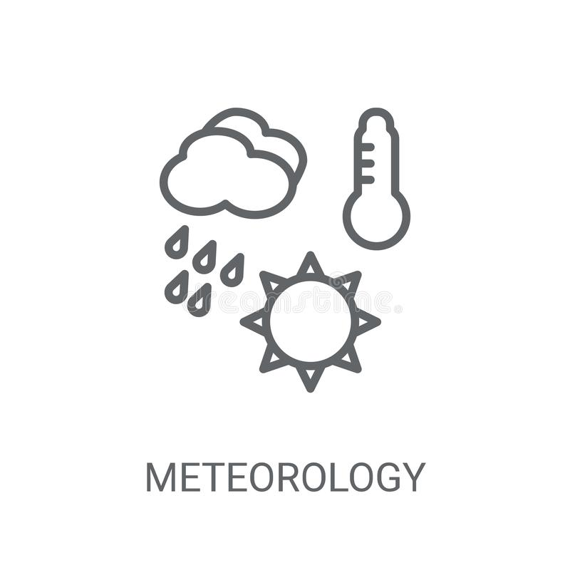 Meteorology icon. Trendy meteorology logo concept on white backg. Round from Weather collection. Suitable for use on web apps, mobile apps and print media royalty free illustration