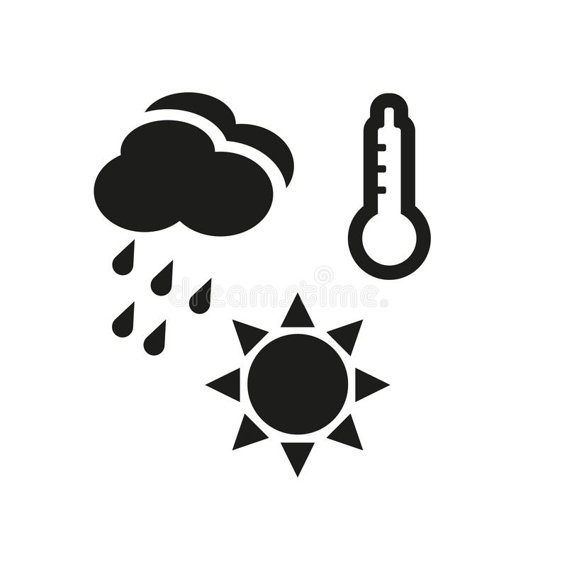 Meteorology icon. Trendy meteorology logo concept on white background from Weather collection. Suitable for use on web apps, mobile apps and print media stock illustration