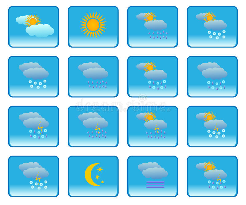 Download Meteorology icons stock vector. Illustration of cloudy - 14770874