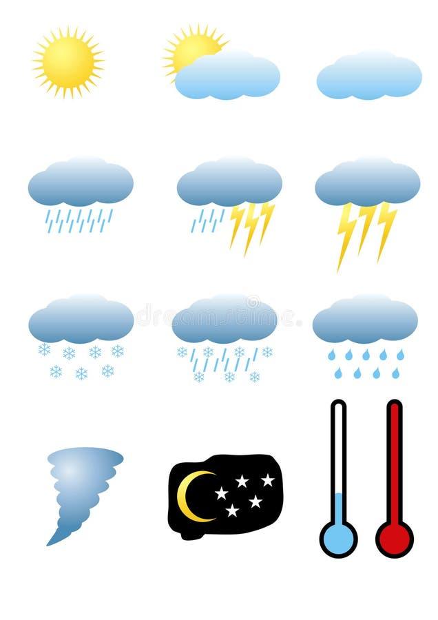 Download Meteorology signs stock vector. Image of element, water - 15310604