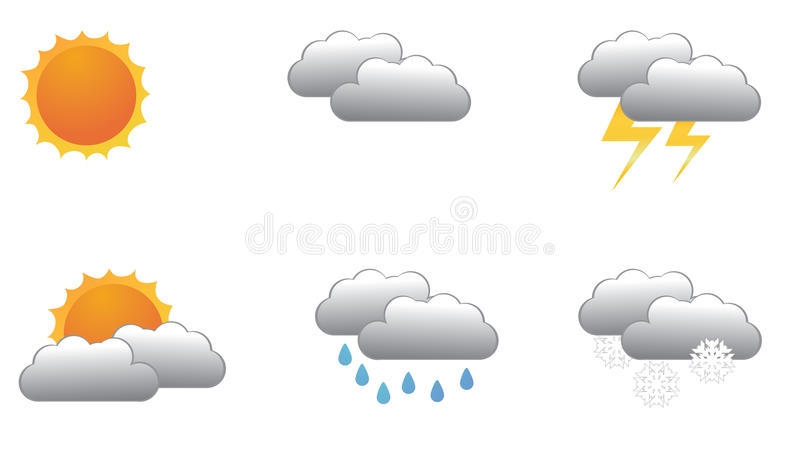 Download Meteorology symbols stock vector. Image of sign, nature - 16709712