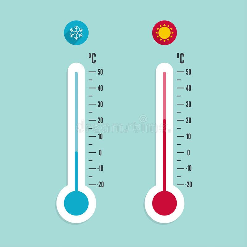 Meteorology Thermometer With Celsius, Fahrenheit Stock ...